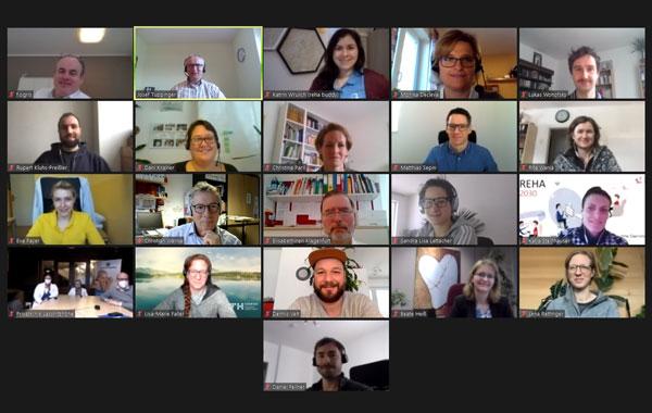 Teilnehmer*innen des Workshops (Screenshot)