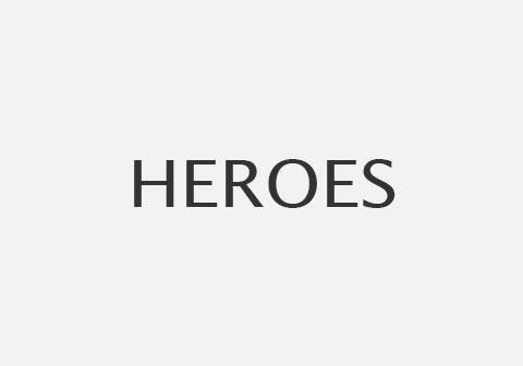 Schriftzug Heroes