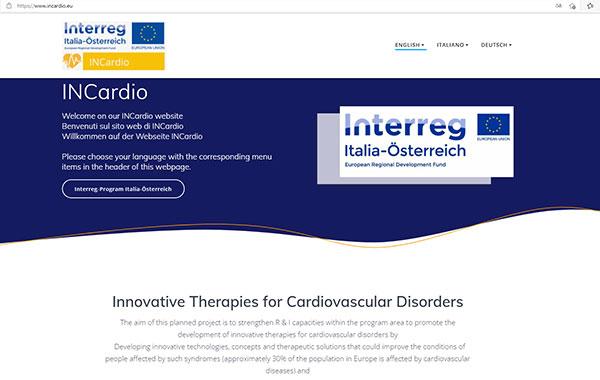 Ausschnitt INCardio-Website